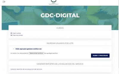Curso de uso de la página web Gdc- digital